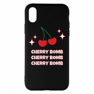 Etui na iPhone X/Xs Cherry bomb