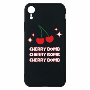 Phone case for iPhone XR Cherry bomb
