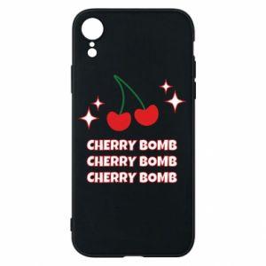 Etui na iPhone XR Cherry bomb