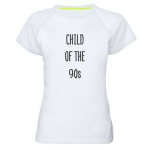 Women's sports t-shirt Child of the 90s