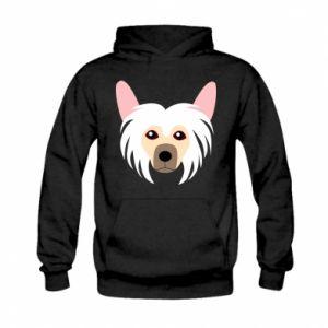 Bluza z kapturem dziecięca Chinese Crested Dog