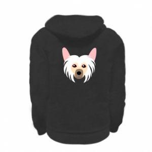 Bluza na zamek dziecięca Chinese Crested Dog