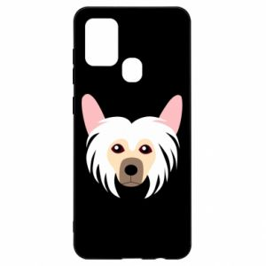 Etui na Samsung A21s Chinese Crested Dog