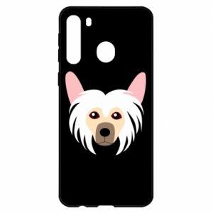 Etui na Samsung A21 Chinese Crested Dog