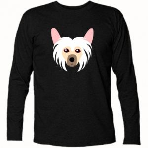 Long Sleeve T-shirt Chinese Crested Dog - PrintSalon