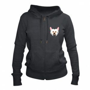 Women's zip up hoodies Chinese Crested Dog - PrintSalon