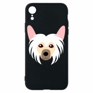 Phone case for iPhone XR Chinese Crested Dog - PrintSalon