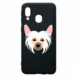 Phone case for Samsung A40 Chinese Crested Dog - PrintSalon