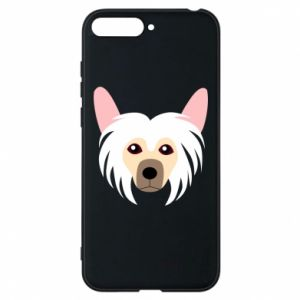 Phone case for Huawei Y6 2018 Chinese Crested Dog - PrintSalon