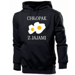 Bluza z kapturem męska Chlopak z jajami