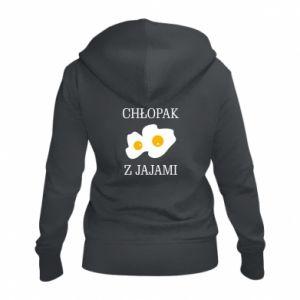 Damska bluza na zamek Chlopak z jajami