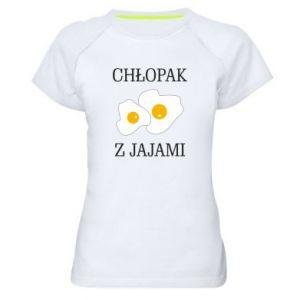 Damska koszulka sportowa Chlopak z jajami