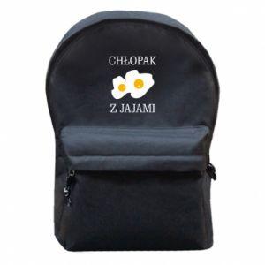 Plecak z przednią kieszenią Chlopak z jajami