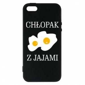 Etui na iPhone 5/5S/SE Chlopak z jajami