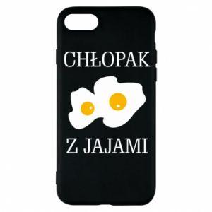 Etui na iPhone 8 Chlopak z jajami