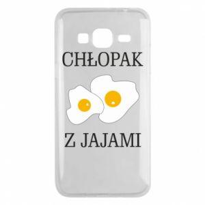 Etui na Samsung J3 2016 Chlopak z jajami