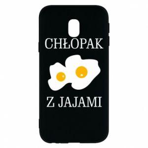 Etui na Samsung J3 2017 Chlopak z jajami