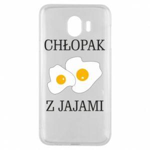 Etui na Samsung J4 Chlopak z jajami