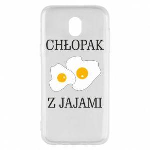 Etui na Samsung J5 2017 Chlopak z jajami