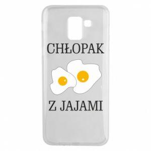Etui na Samsung J6 Chlopak z jajami