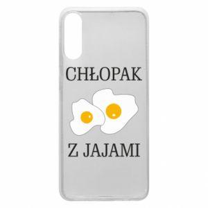 Etui na Samsung A70 Chlopak z jajami