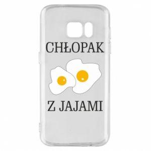 Etui na Samsung S7 Chlopak z jajami