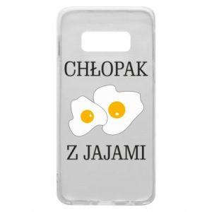 Etui na Samsung S10e Chlopak z jajami