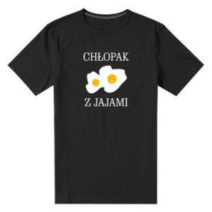 Koszulka premium męska Chlopak z jajami