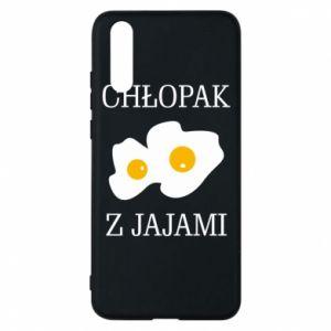 Etui na Huawei P20 Chlopak z jajami