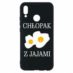Etui na Huawei P20 Lite Chlopak z jajami
