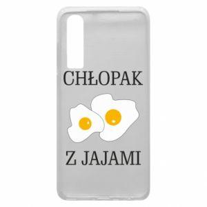 Etui na Huawei P30 Chlopak z jajami