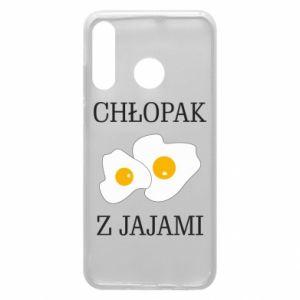 Etui na Huawei P30 Lite Chlopak z jajami