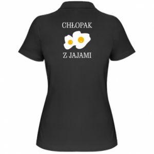 Damska koszulka polo Chlopak z jajami