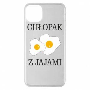 Etui na iPhone 11 Pro Max Chlopak z jajami