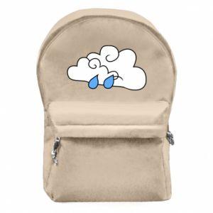 Plecak z przednią kieszenią Chmura