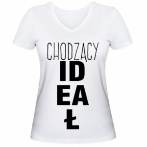 Damska koszulka V-neck Chodzący ideał