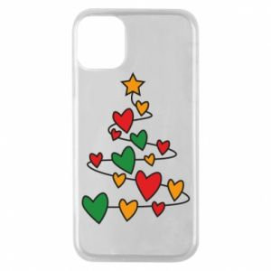 Phone case for iPhone 11 Pro Christmas tree and a lot of hearts