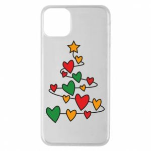 Phone case for iPhone 11 Pro Max Christmas tree and a lot of hearts