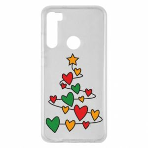 Xiaomi Redmi Note 8 Case Christmas tree and a lot of hearts