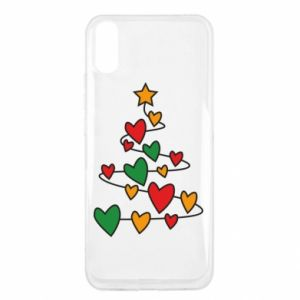 Xiaomi Redmi 9a Case Christmas tree and a lot of hearts