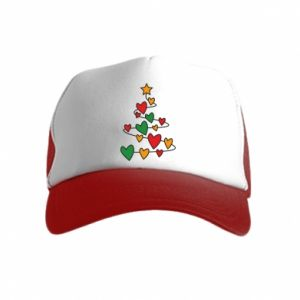 Kid's Trucker Hat Christmas tree and a lot of hearts