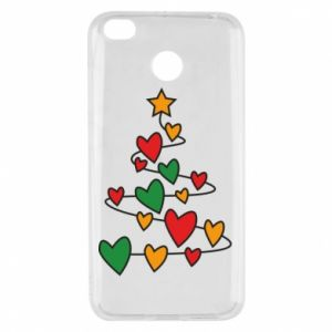 Xiaomi Redmi 4X Case Christmas tree and a lot of hearts