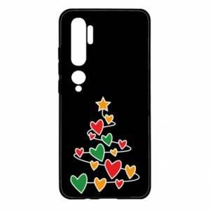 Xiaomi Mi Note 10 Case Christmas tree and a lot of hearts
