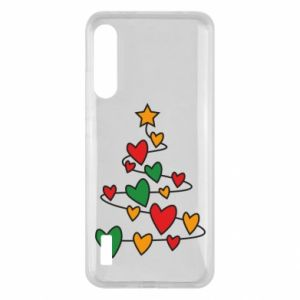 Xiaomi Mi A3 Case Christmas tree and a lot of hearts
