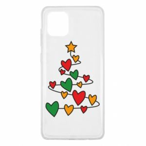 Samsung Note 10 Lite Case Christmas tree and a lot of hearts