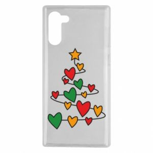 Samsung Note 10 Case Christmas tree and a lot of hearts