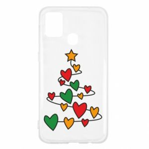 Samsung M31 Case Christmas tree and a lot of hearts