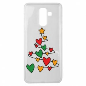 Samsung J8 2018 Case Christmas tree and a lot of hearts