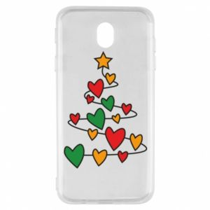 Samsung J7 2017 Case Christmas tree and a lot of hearts