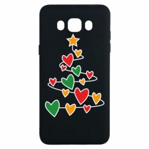 Samsung J7 2016 Case Christmas tree and a lot of hearts